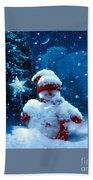 Snowman Bath Towel