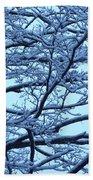 Snowy Branches Landscape Photograph Bath Towel