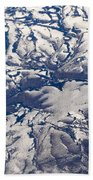Snowy Landscape Aerial Hand Towel