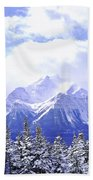 Snowy Mountain Bath Towel