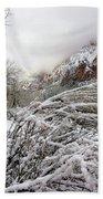 Snowy Mountains In Zion Bath Towel