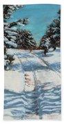Snowy Road Home Bath Towel