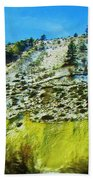 Snowy Rock Mountain Bath Towel