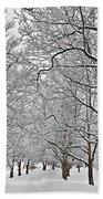 Snowy Treeline Bath Towel