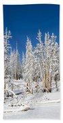 Snowy Trees Bath Towel