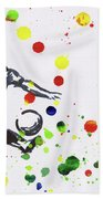 Soccer Player In Action Bath Towel