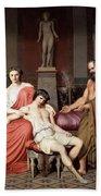 Socrates Chiding Alcibiades Bath Towel