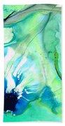Soft Green Art - Gentle Guidance - Sharon Cummings Bath Towel