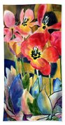 Soft Quilted Tulips Bath Towel