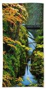 Sol Duc Falls In Autumn Bath Towel