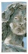 Solitude. A Cemetery Statue Hand Towel