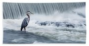 Solitude In Stormy Waters Bath Towel
