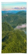 Over Alaska - June  Bath Towel