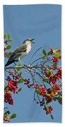 Song Of The Mockingbird Hand Towel