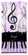 Songs - Purple Bath Towel