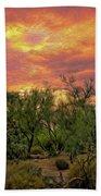 Sonoran Desert Sunset Op46 Bath Towel