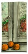 Sound Of Rain  Oil Painting Hand Towel