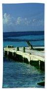 South Caye Belize Boat Dock Bath Towel