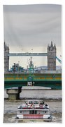 Southwark Bridge And The Tower Bridge Bath Towel