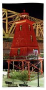 Southwest Reef Lighthouse, Berwick, Louisiana Bath Towel