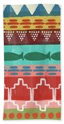 Southwest With Fish- Art By Linda Woods Bath Towel by Linda Woods