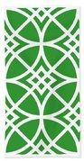 Southwestern Inspired With Border In Dublin Green Bath Towel