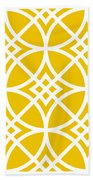 Southwestern Inspired With Border In Mustard Bath Towel