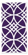 Southwestern Inspired With Border In Purple Bath Towel