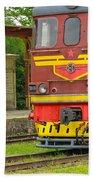 Soviet Era Train In Haapsalu Estonia Bath Towel