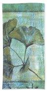 Spa Gingko Postcard 1 Bath Towel