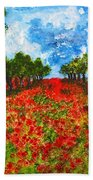 Spanish Poppies Bath Towel