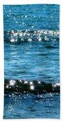 Sparkle Waves  Bath Towel