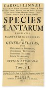 Species Plantarum, Linnaeus, 1753 Bath Towel