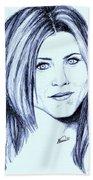 Speed Drawing Of Jennifer Aniston  Bath Towel