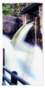 Spillway On The Canal Bath Towel