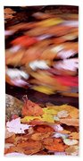 Spinning Leaves Of Autumn Bath Towel
