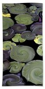 Spinning Lilies Bath Towel