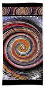 Spiral Frenzy Poster Bath Towel