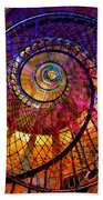 Spiral Spacial Abstract Square Bath Towel