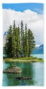 Spirit Island, Jasper National Park Bath Towel