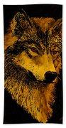 Spirit Wolf Hand Towel