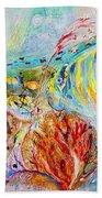 Splash Of Life #14 Red Sea  Bath Towel