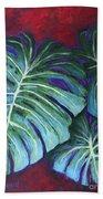 Split Leaf Philodendron Bath Towel