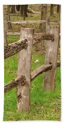 Split Rail Fence Bath Towel