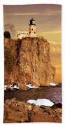 Split Rock Lighthouse Bath Towel