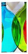 Spoon Bottles-rainbow Theme Bath Towel