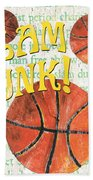 Sports Fan Basketball Hand Towel by Debbie DeWitt