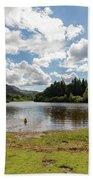 Spot The Swimming Dog In Derwnt Water Lake Bath Towel