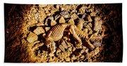 Spotlight On A Extinct Stegosaurus Hand Towel