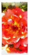 Spread Petals Of A Red Rose Bath Towel
